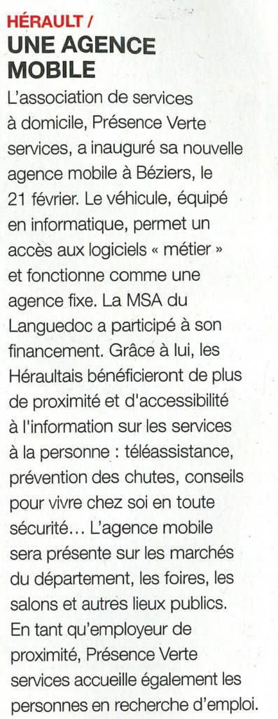 ARTICLE LE BIMSA AGENCE MOBILE