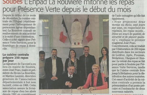 PVS a signé une convention de partenariat avec l'EHPAD La Rouvière