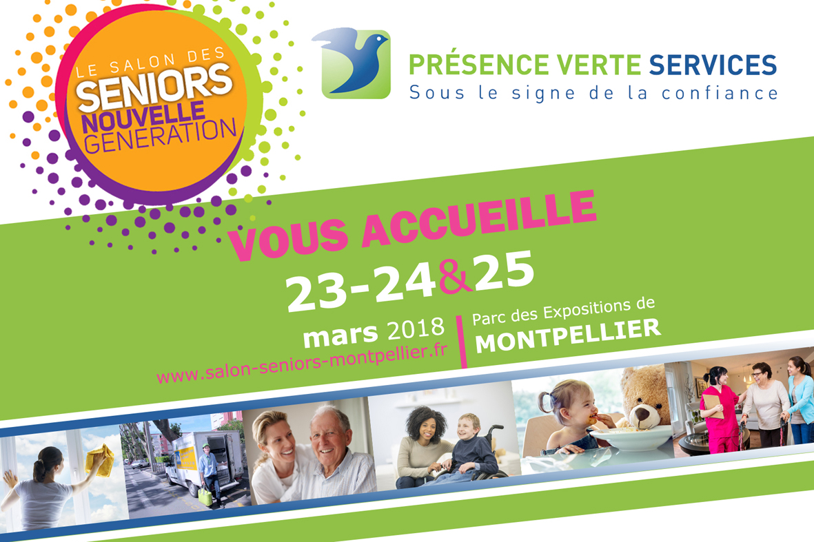 Pr sence verte services participe au salon des seniors for Salon des seniors paris
