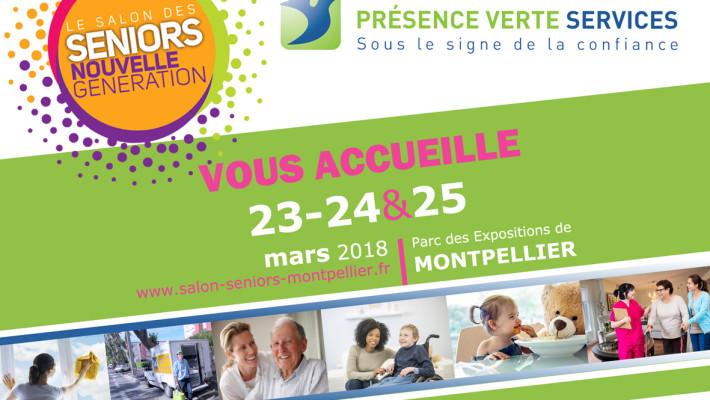 Présence Verte Services participe au Salon des seniors !