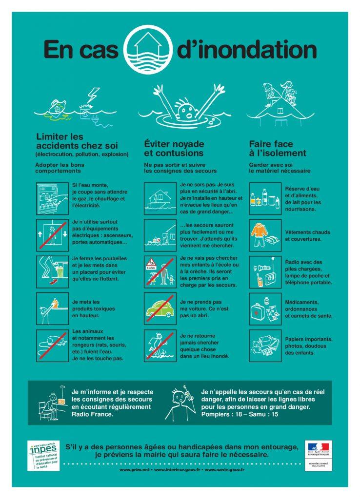 consignes innondation