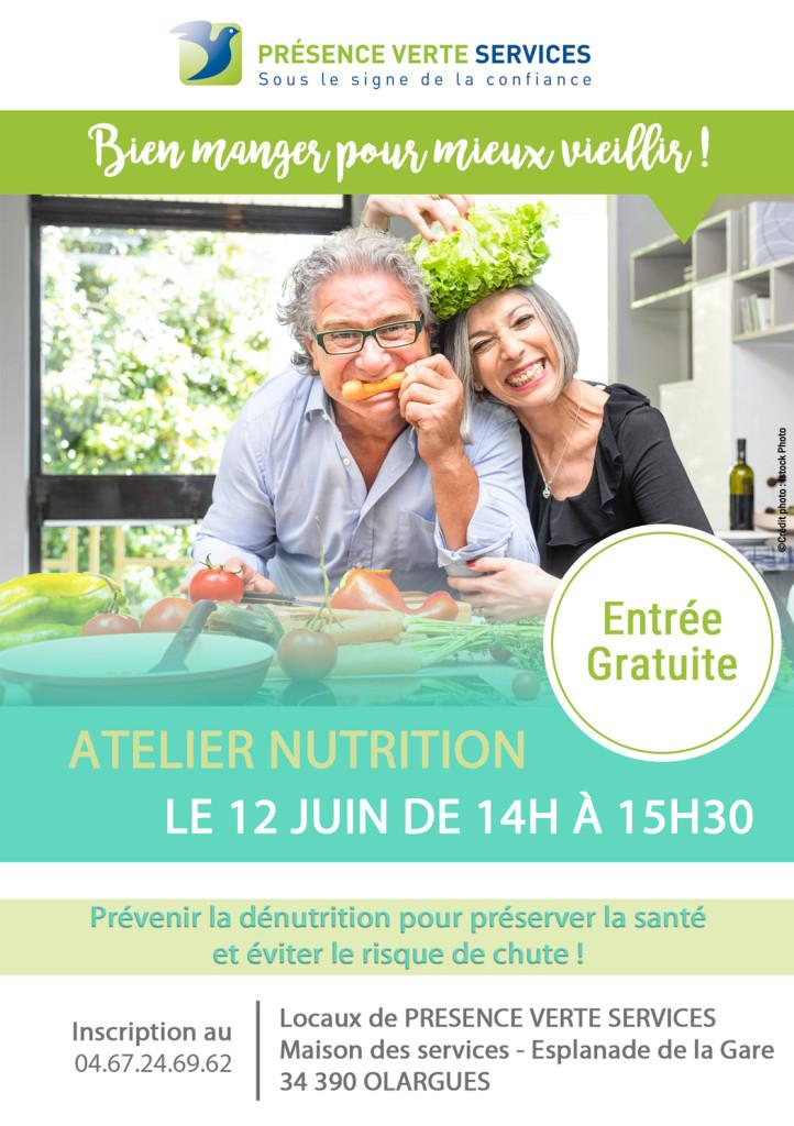 Affiche atelier nutrition olargues