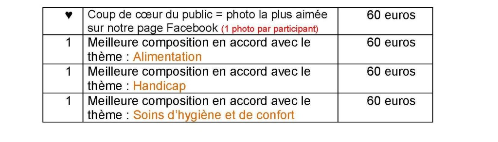 Concours Photos 2020_tableau